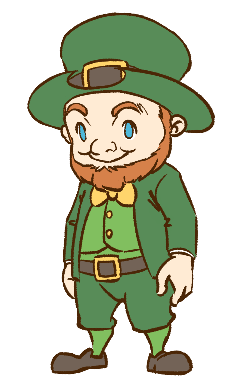 804x1295 Irish Leprechaun Clipart