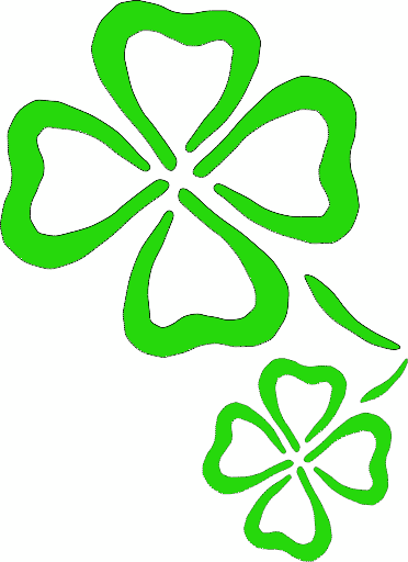 372x512 Irish Clover Clipart