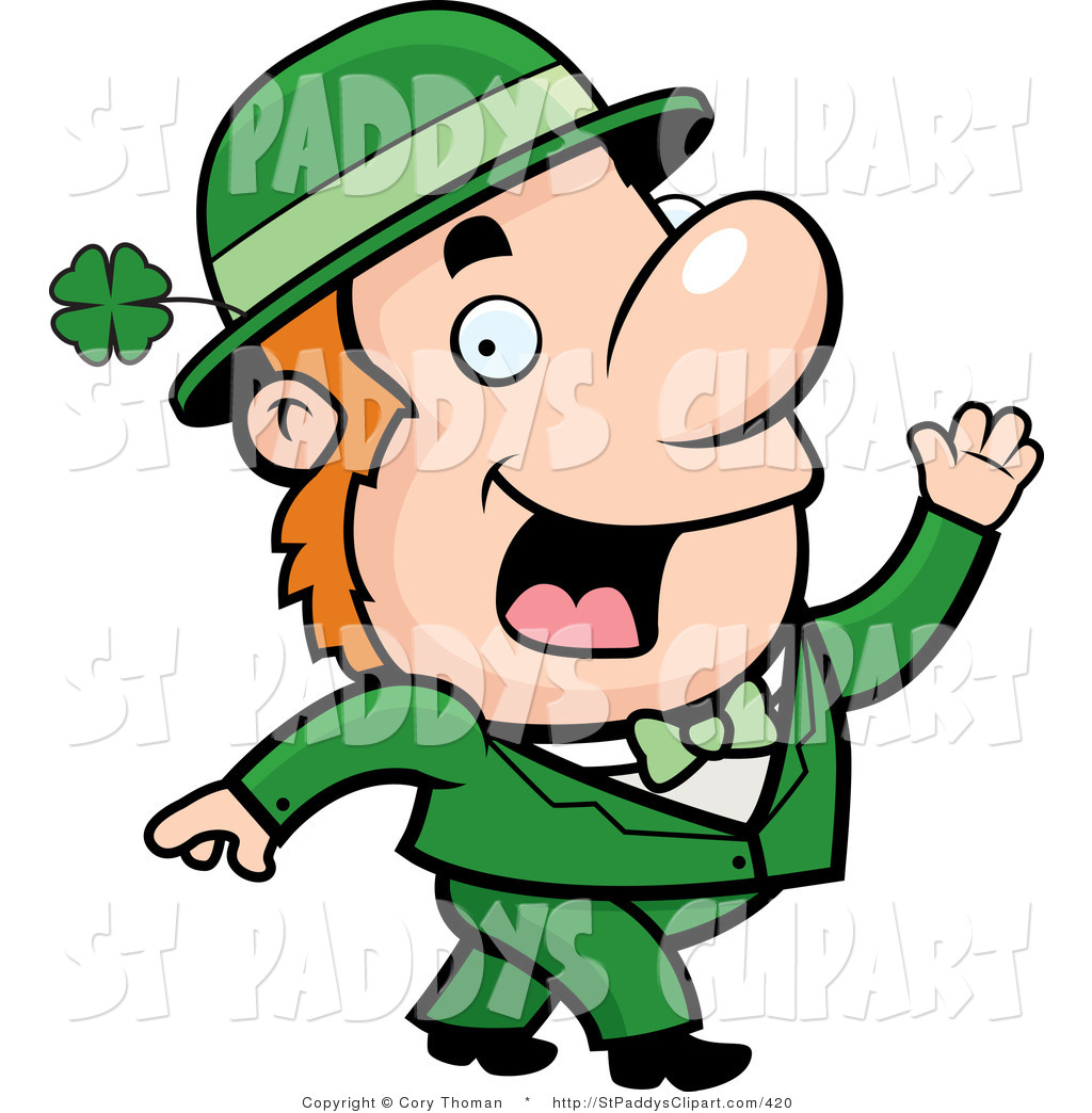 1024x1044 Vector Clip Art Of A Friendly Irish Leprechaun Man Waving