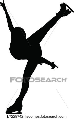 292x470 Clipart Of Figure Skating K7228742