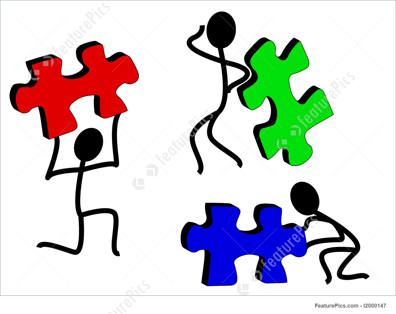 1300x1030 Puzzle Clipart Stick Figure