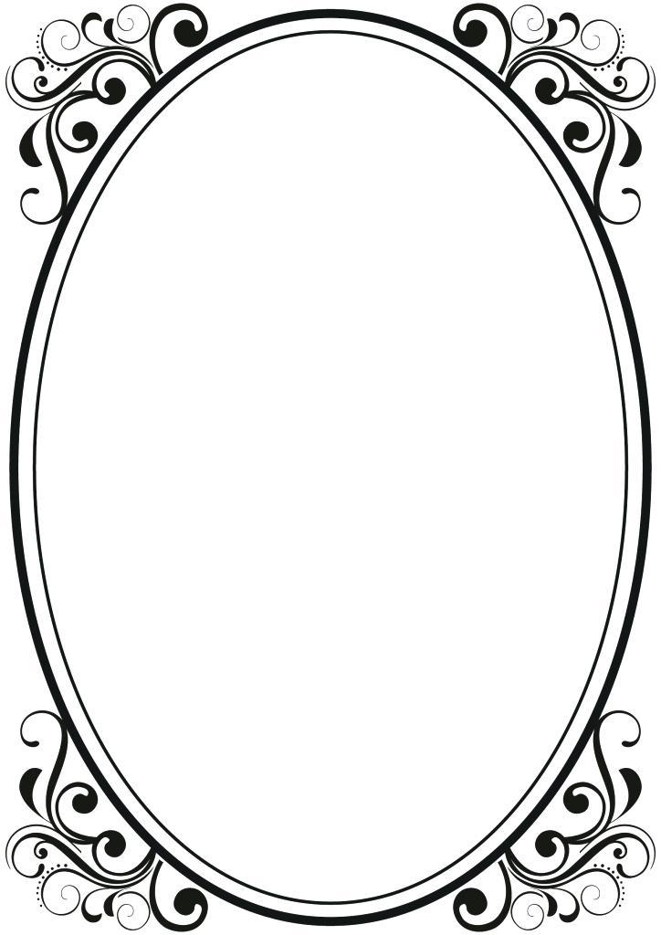 724x1024 Frame Clipart Free Black Clip Art Borders And Frames Weddings