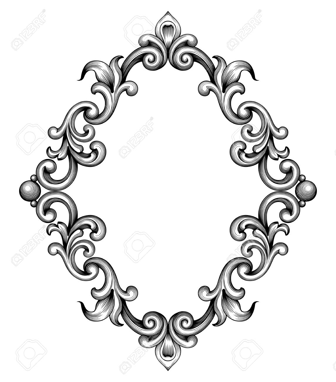 1144x1300 Ornamental Clipart Filigree Border