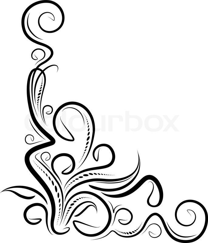 685x800 Filigree Border Clip Art Free