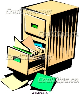 258x308 Filing Cabinet Clip Art
