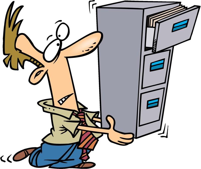 800x674 Open File Cabinet Clipart