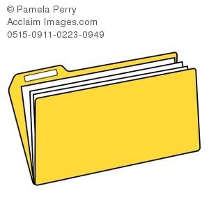 300x300 Art Illustration Of A Yellow File Folder