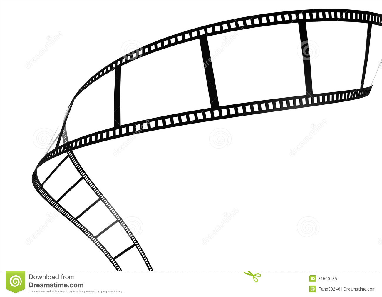 1300x1010 Film Strip Template Border Movie Theater Frame Stock Illustrations