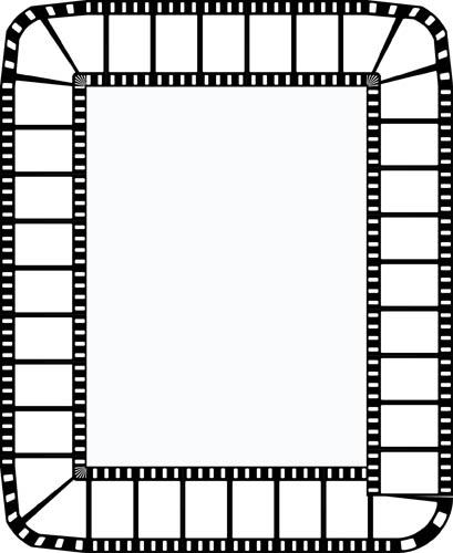 409x500 Movie Clipart Boarder