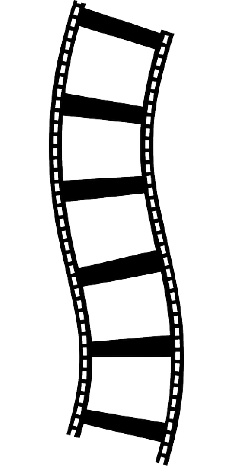 800x1600 Movie Reel Film Border Clipart Image