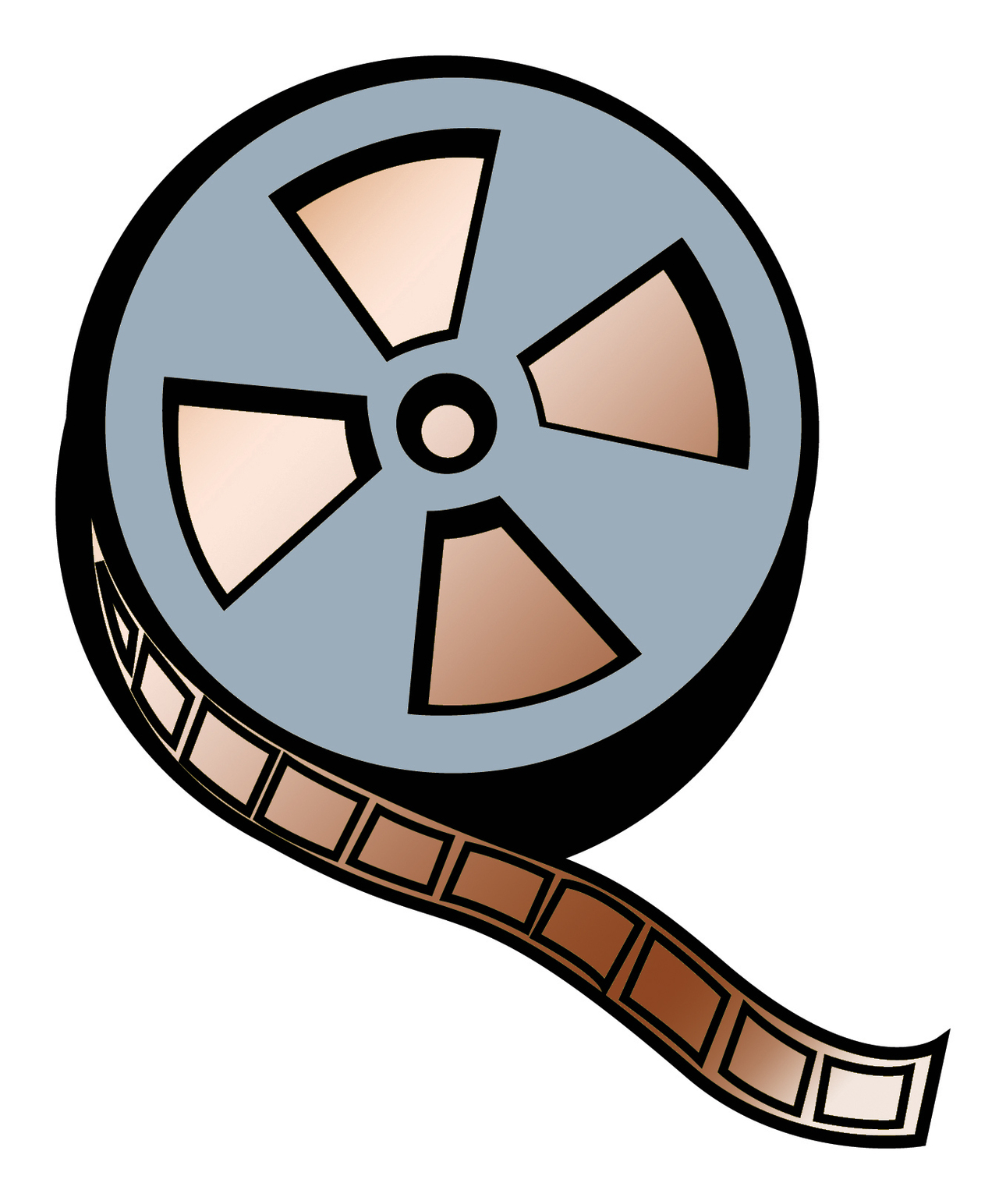 1290x1544 Movie Reel Film Clip Art