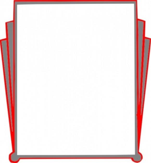 580x626 Clip Art Book Border Clipart