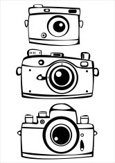 166x235 Vintage Camera Sketch Premium Clipart