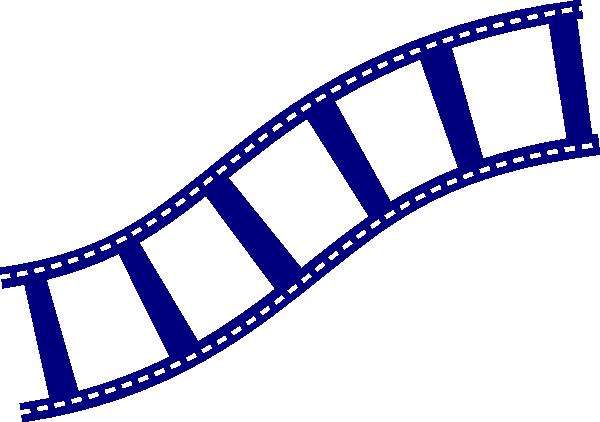 600x422 Film Strip Blu Clip Art