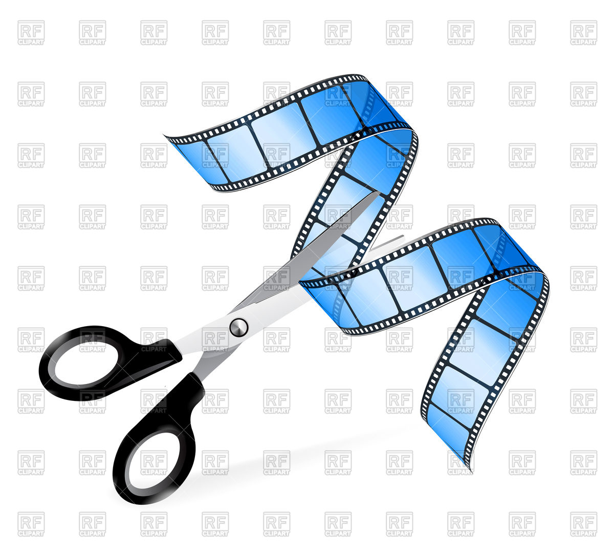 1200x1084 Scissors And Film Strip As Video Editing Concept Royalty Free