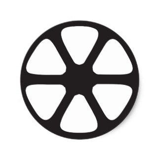 324x324 Film Reel Stickers Zazzle
