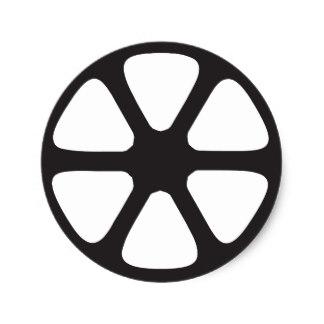 324x324 Film Reel Stickers Zazzle