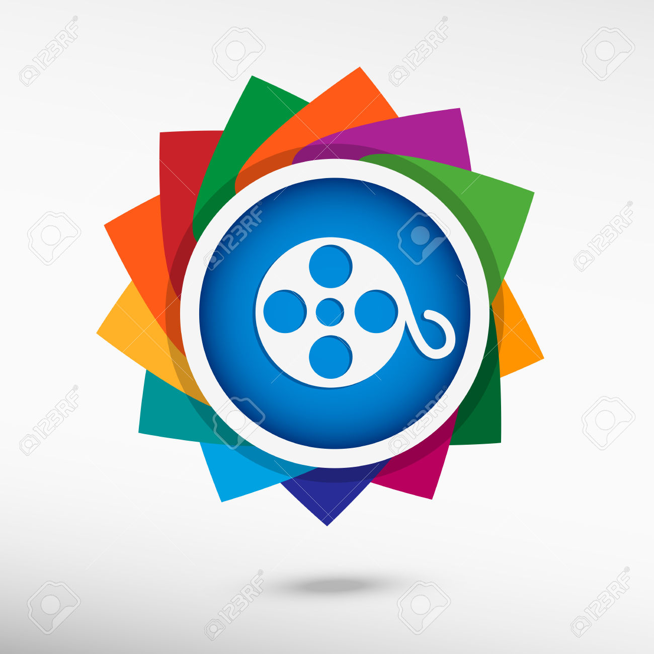 1300x1300 Color Movie Reel Clipart