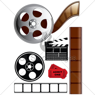 325x325 Movie Background Film Slate Reel Gl Stock Images