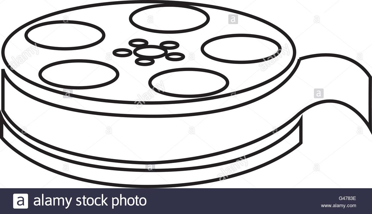 1300x747 Film Reel , Vector Illustration Over White Background Stock Vector