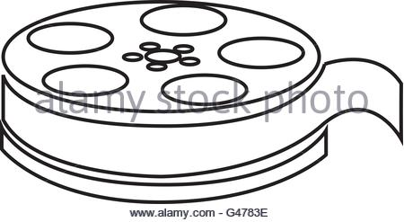 450x247 Movie Film Reel Icon Over White Background. Cinema Design. Vector