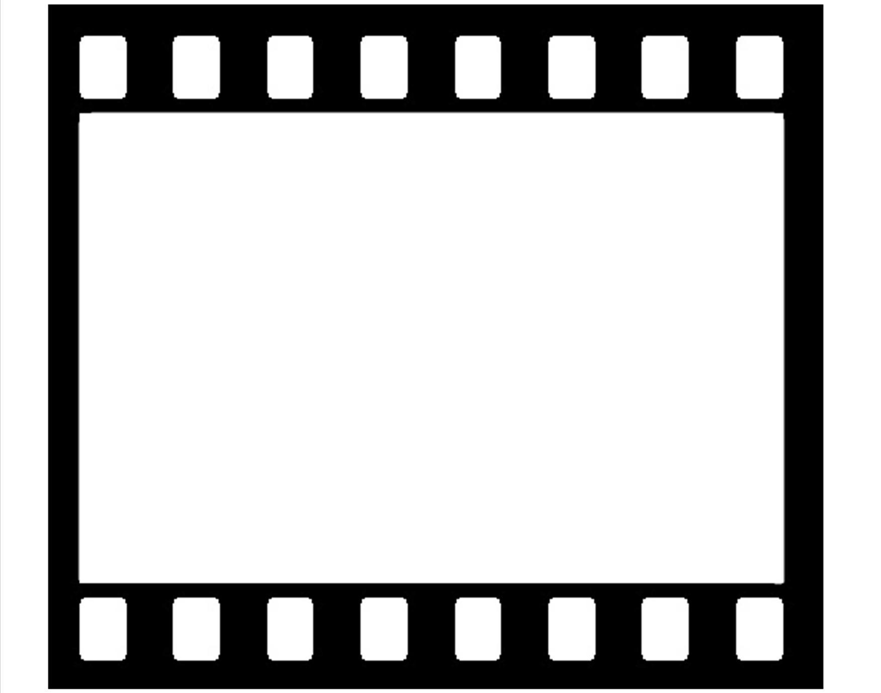 1752x1378 Film Reel Border Clipart