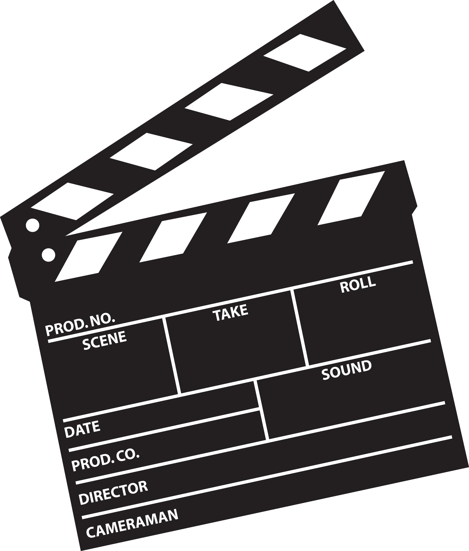 2550x2996 Film Clapboard Clipart
