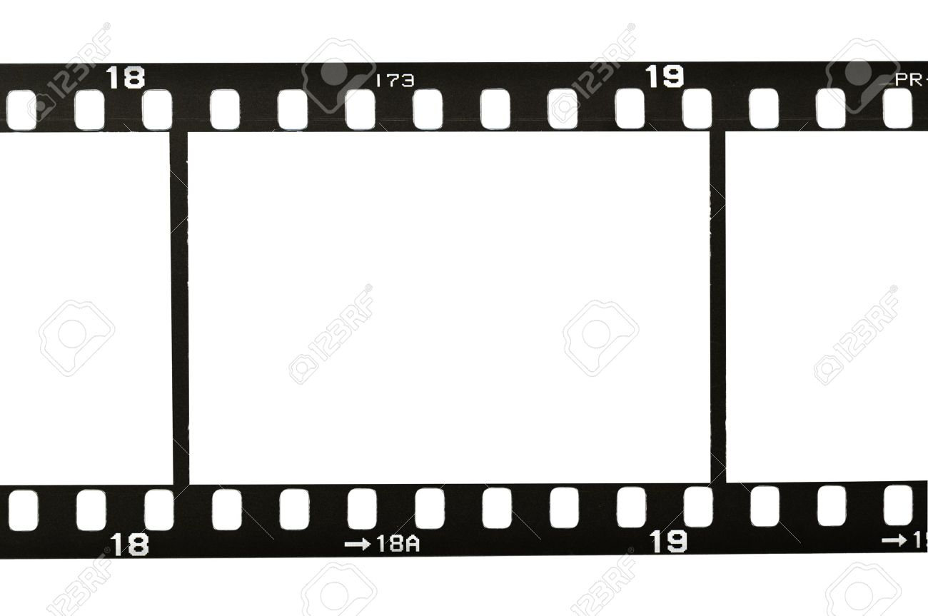 1300x863 Frame Of 35mm Film Strip, Isolated On White Stock Photo, Picture