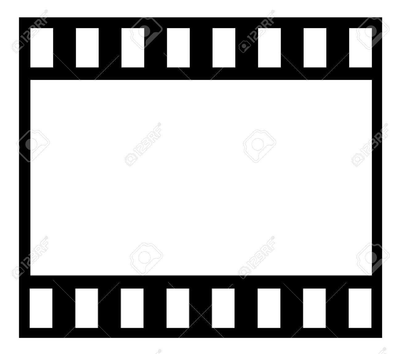 1300x1148 Film Strip Isolated On White Background Royalty Free Cliparts