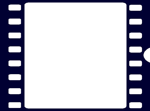 600x443 Navy Blue Film Strip Clip Art