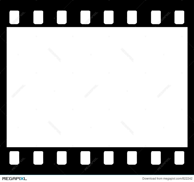800x749 35mm Film Strip Frame Illustration 822242