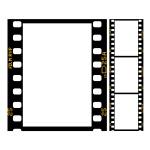 150x150 Film Strip Border Royalty Free Vector Clip Art Image
