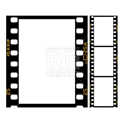 400x400 Film Strip Royalty Free Vector Clip Art Image