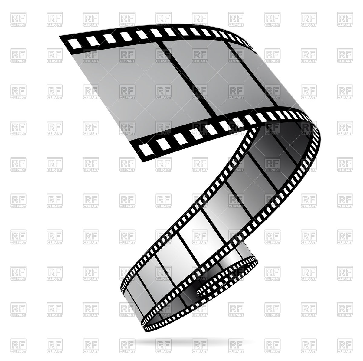 1200x1194 Film Strip Illustration Royalty Free Vector Clip Art Image