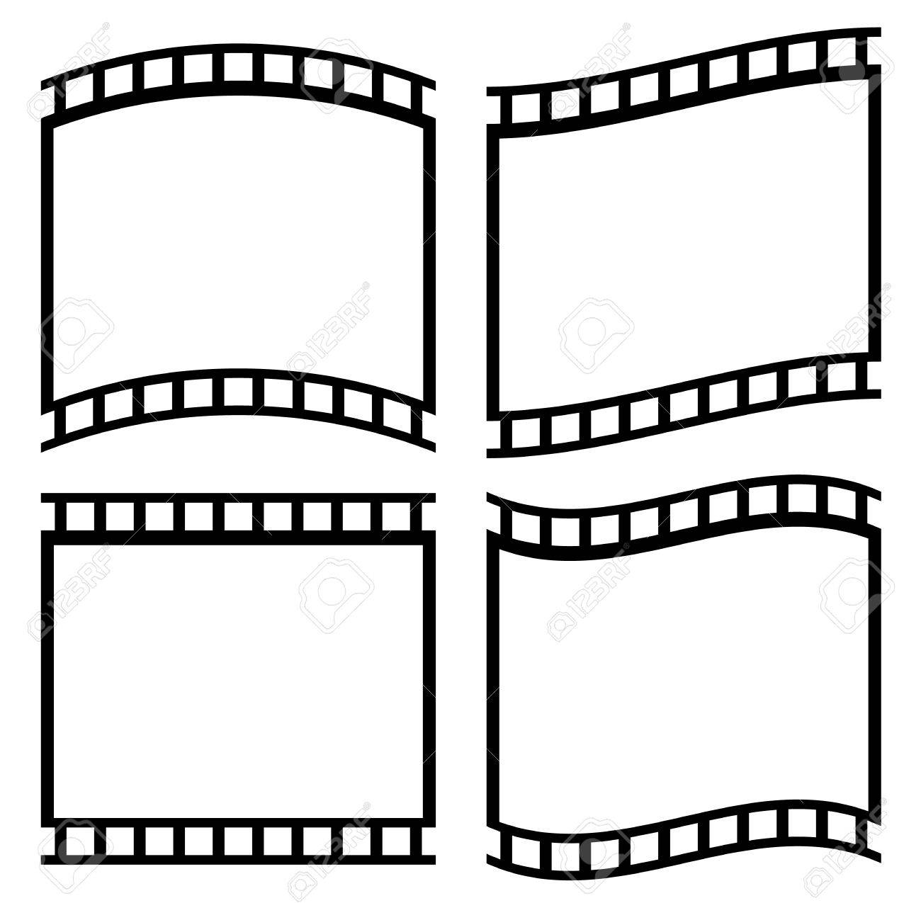 1300x1275 Black And White Film Strips, Film Tapes Royalty Free Cliparts