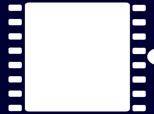 600x443 Navy Blue Film Strip Clip Art