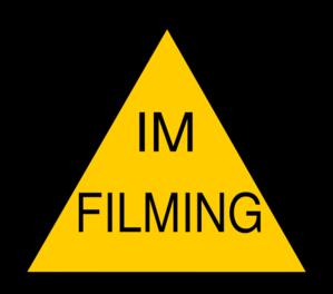 299x264 Im Filming Badge Clip Art