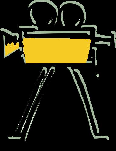 382x500 Old Filming Camera Vector Drawing Public Domain Vectors