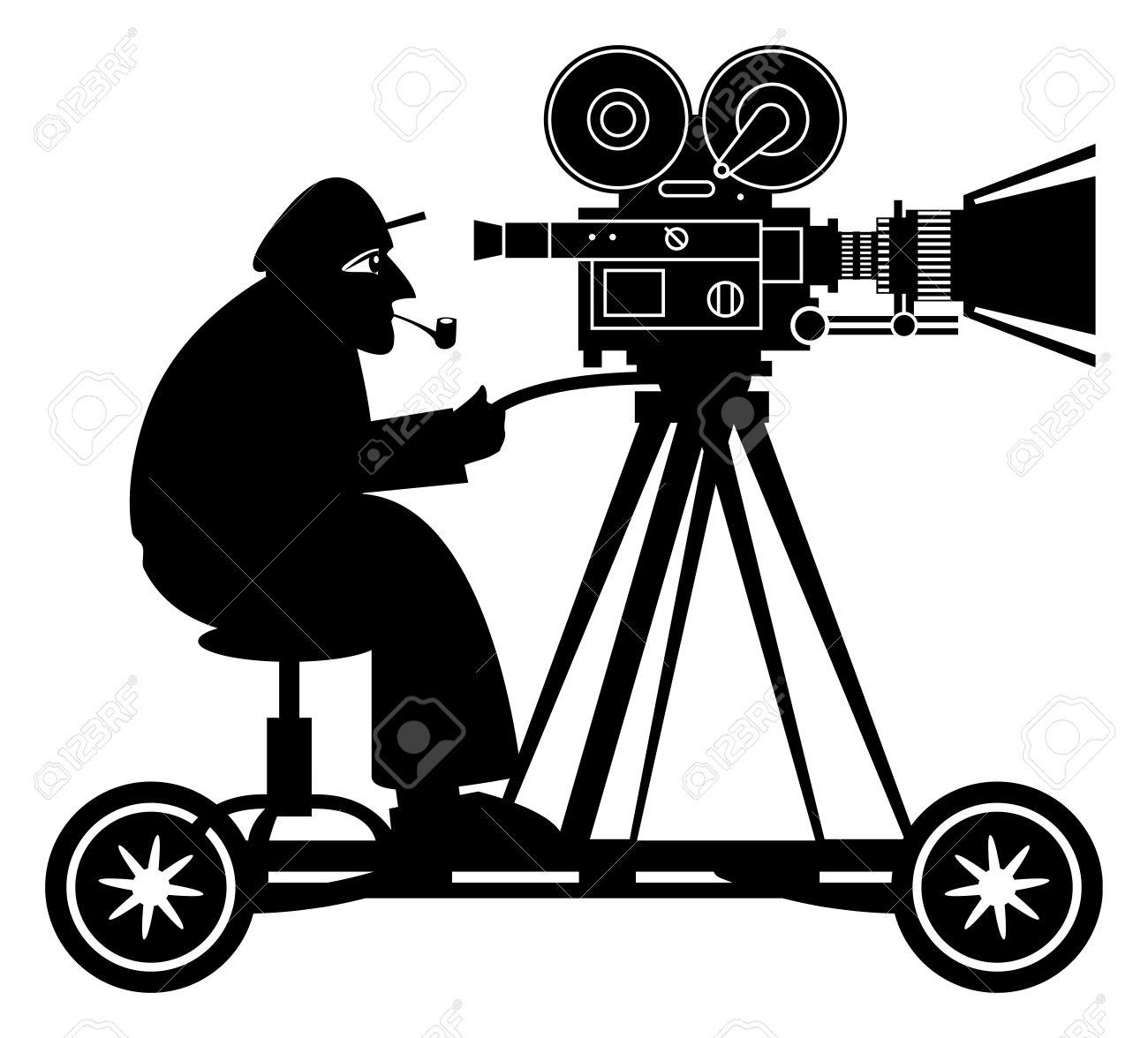 1300x1176 Camera Clipart Movie Director