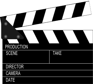 300x272 Movie Clapper Board Clip Art