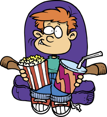 365x400 To Go To The Movies Clip Art Cliparts