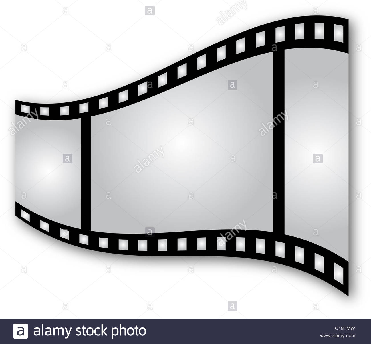 1300x1206 Curved Film Strip On White Background Stock Photo, Royalty Free