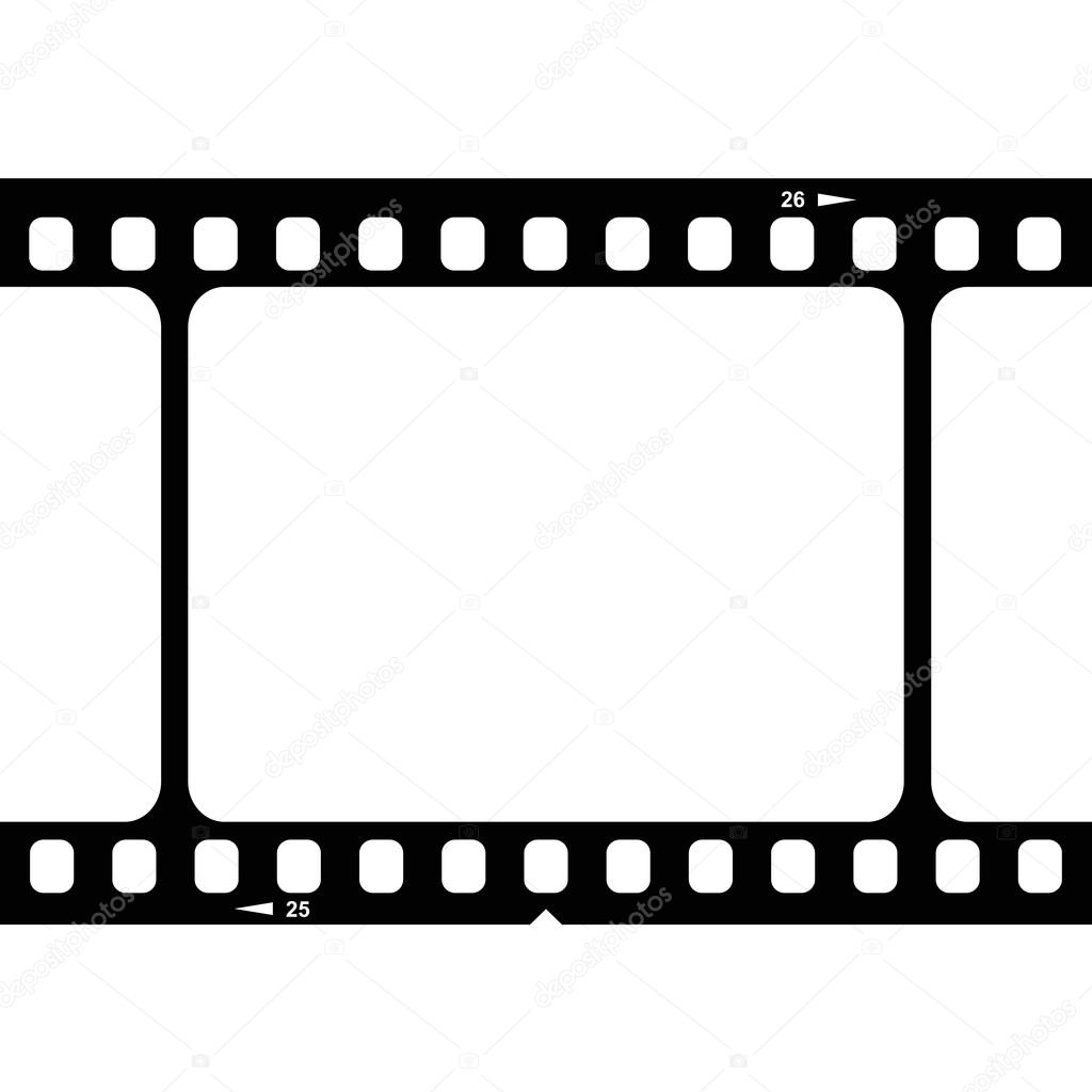 1024x1024 Illustration Of Blank 35mm Film Strip Stock Vector