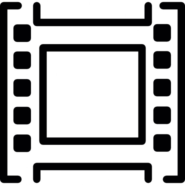 626x626 Single Film Strip Outline Icons Free Download