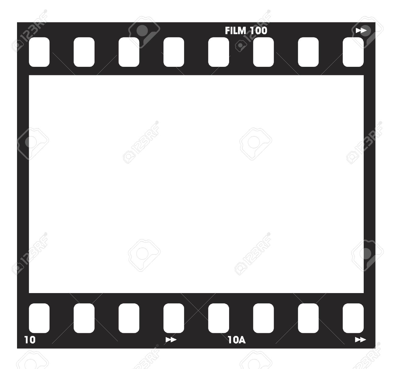 1300x1215 Old Blank Film Strip Frame Background Stock Photo 37841605