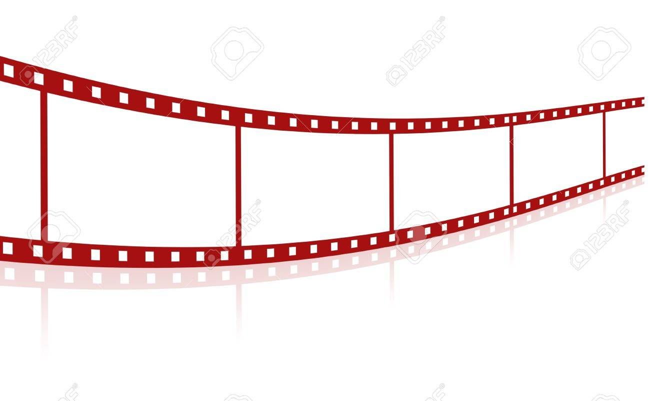 1300x801 Blank Red Film Strip Stock Photo, Picture And Royalty Free Image