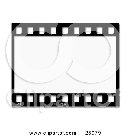 450x470 Clipart Illustration Of One Black And White Negative Photography