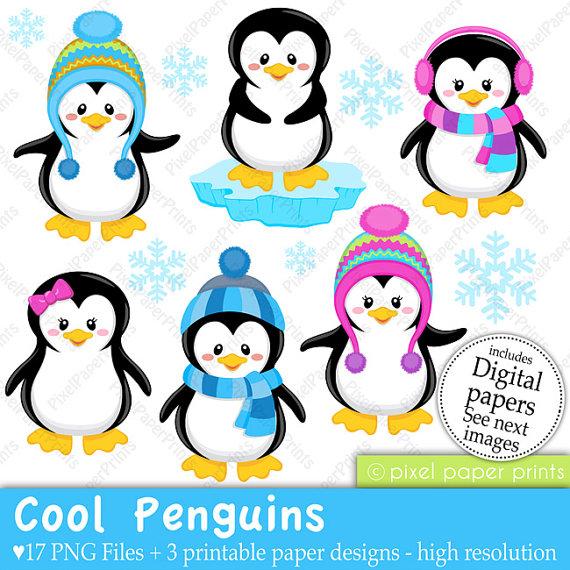 570x570 Premium Vector Penguin Clip Art Cute By Looklookprettypaper