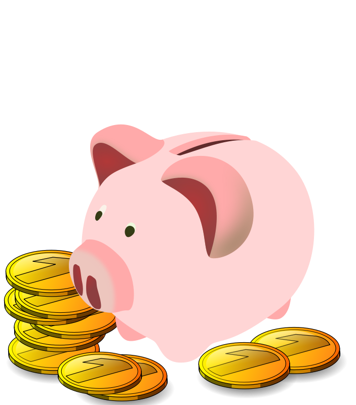 703x800 Free Piggy Bank Clip Art