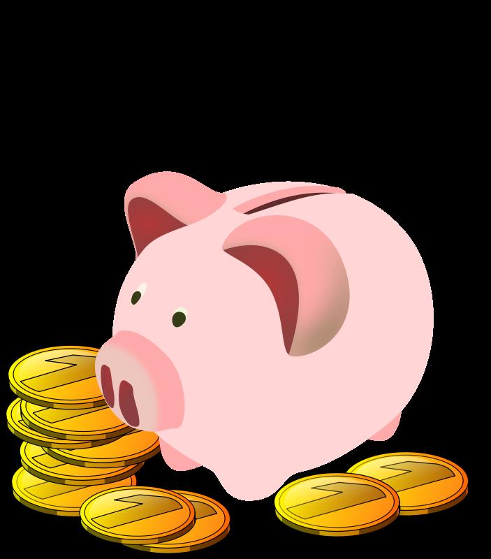 703x800 Free Piggy Bank Clip Art